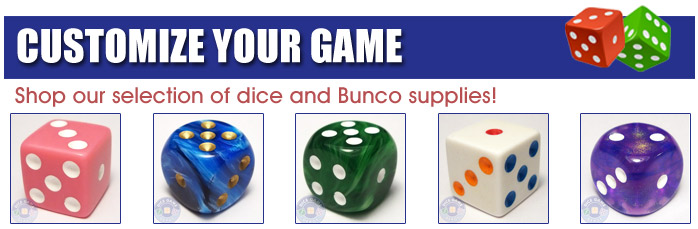 Bunco dice and supplies for sale