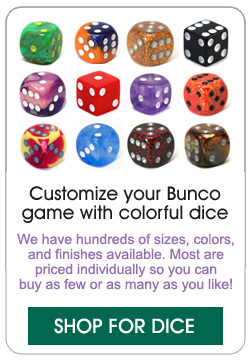 Shop for Bunco dice