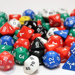 Assorted polyhedral dice